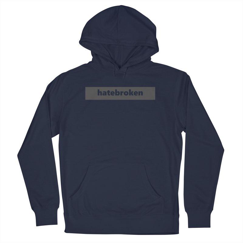 hatebroken  |  logo  |  dark Men's French Terry Pullover Hoody by
