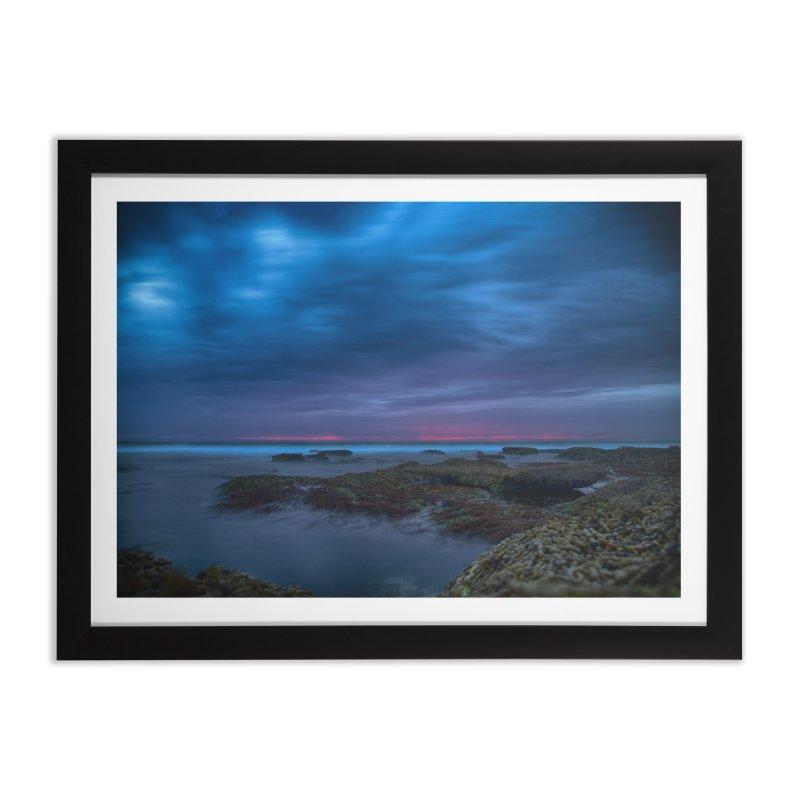 sunset Home Framed Fine Art Print by