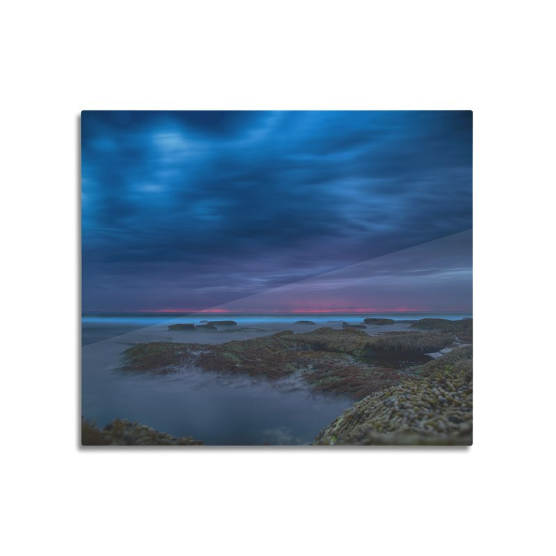 sunset Home Mounted Aluminum Print by