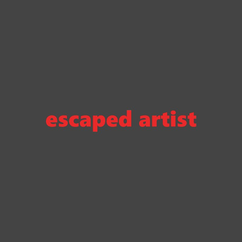 escaped artist  |  text  |  light by Extreme Toast's Artist Shop