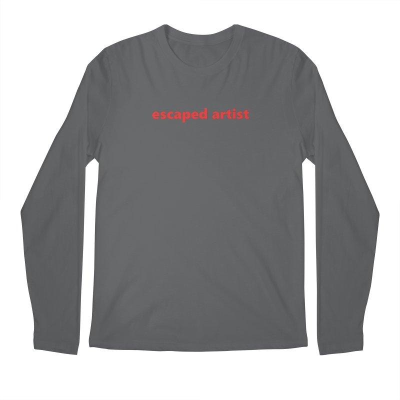 escaped artist  |  text  |  light Men's Longsleeve T-Shirt by Extreme Toast's Artist Shop