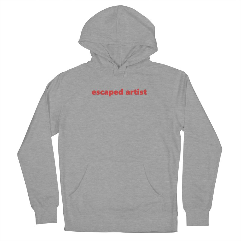 escaped artist     text     light Men's French Terry Pullover Hoody by