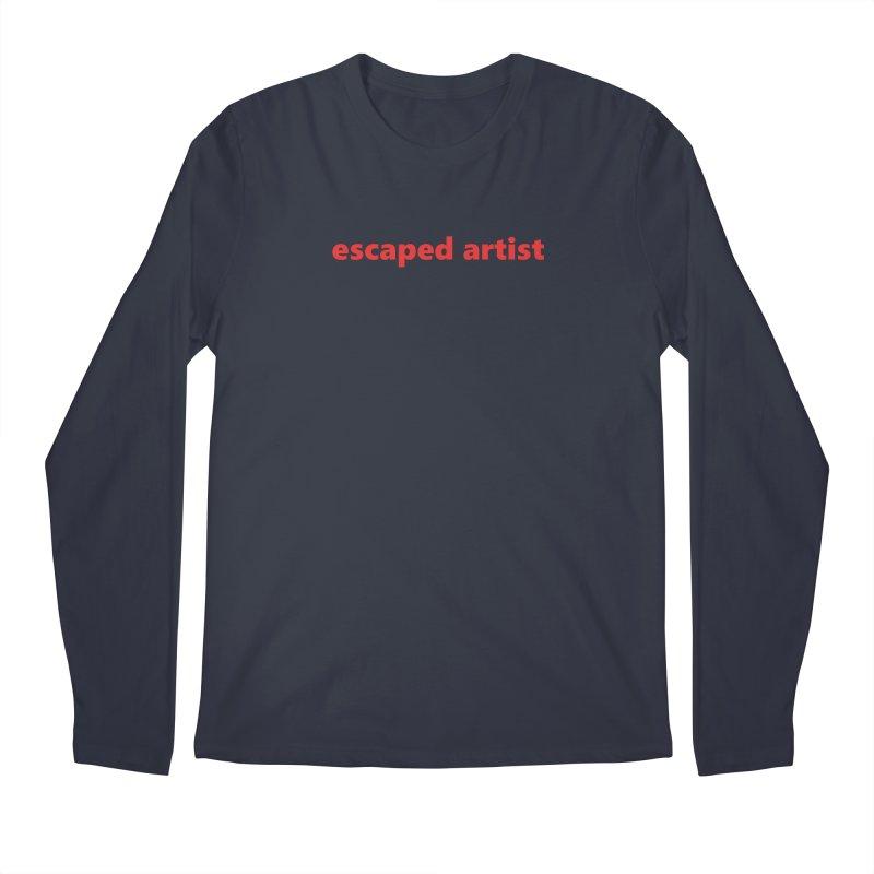 escaped artist  |  text  |  light Men's Regular Longsleeve T-Shirt by Extreme Toast's Artist Shop