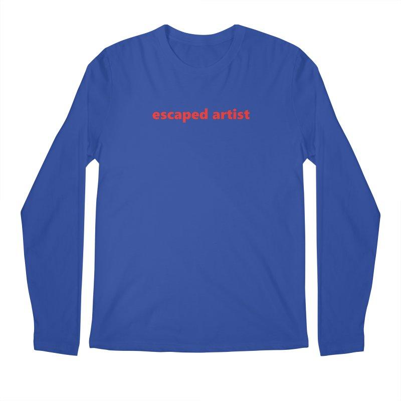 escaped artist     text     light Men's Regular Longsleeve T-Shirt by