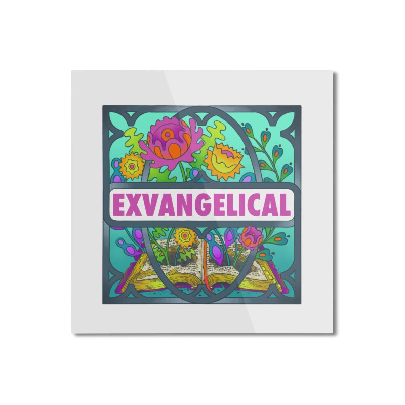 Exvangelical New Logo Full Color Home Mounted Aluminum Print by Exvangelical Podcast Merch