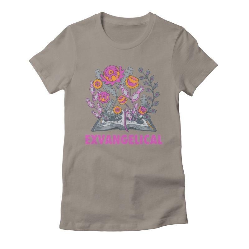 Exvangelical New Logo Simplified Design Women's T-Shirt by Exvangelical Podcast Merch