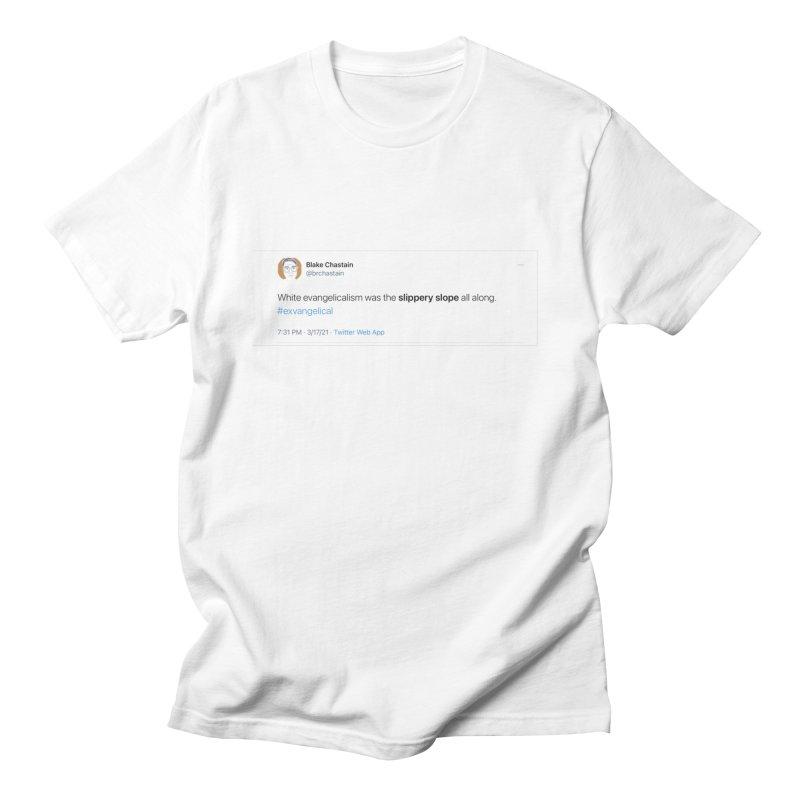 Slippery Slope (Original T[weet] Shirt) Men's T-Shirt by Exvangelical Podcast Merch