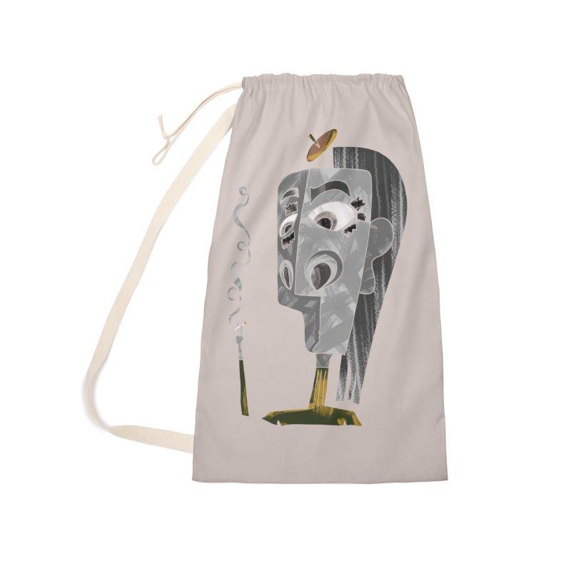 Unwinding in the Afterlife Accessories Laundry Bag Bag by Eyeball Girl Creative