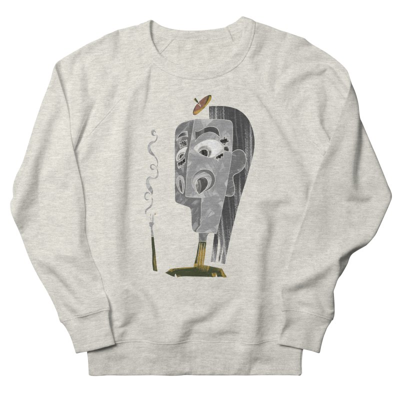 Unwinding in the Afterlife Women's French Terry Sweatshirt by Eyeball Girl Creative
