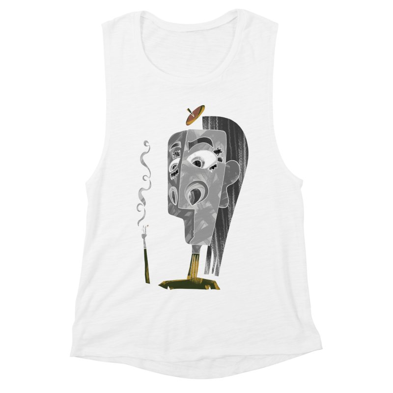 Unwinding in the Afterlife Women's Muscle Tank by Eyeball Girl Creative