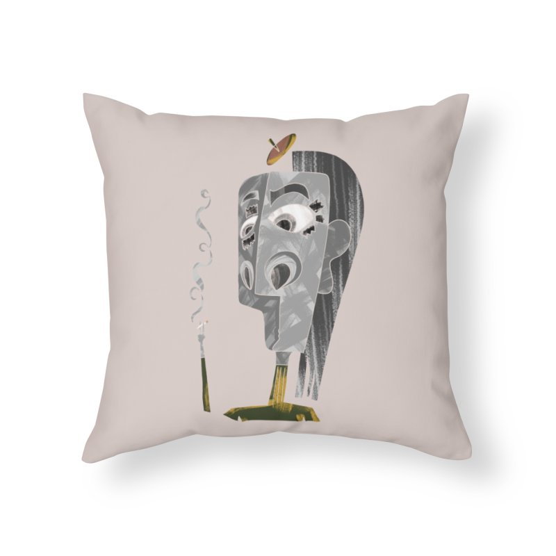 Unwinding in the Afterlife Home Throw Pillow by Eyeball Girl Creative