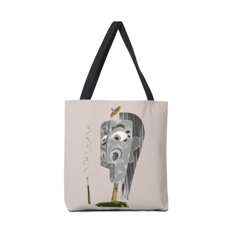 Unwinding in the Afterlife Accessories Tote Bag Bag by Eyeball Girl Creative