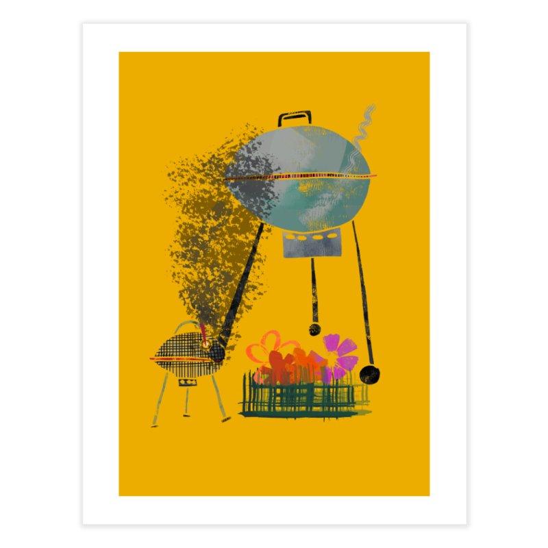 Quit Grillin' Me Home Fine Art Print by Eyeball Girl Creative