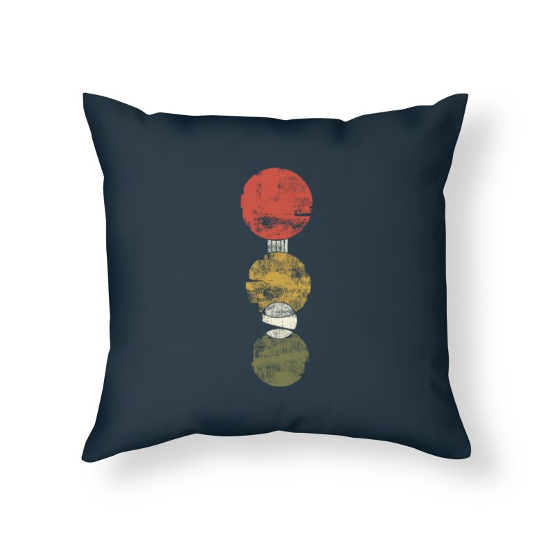 Hurry. Hustle. Halt. Home Throw Pillow by Eyeball Girl Creative