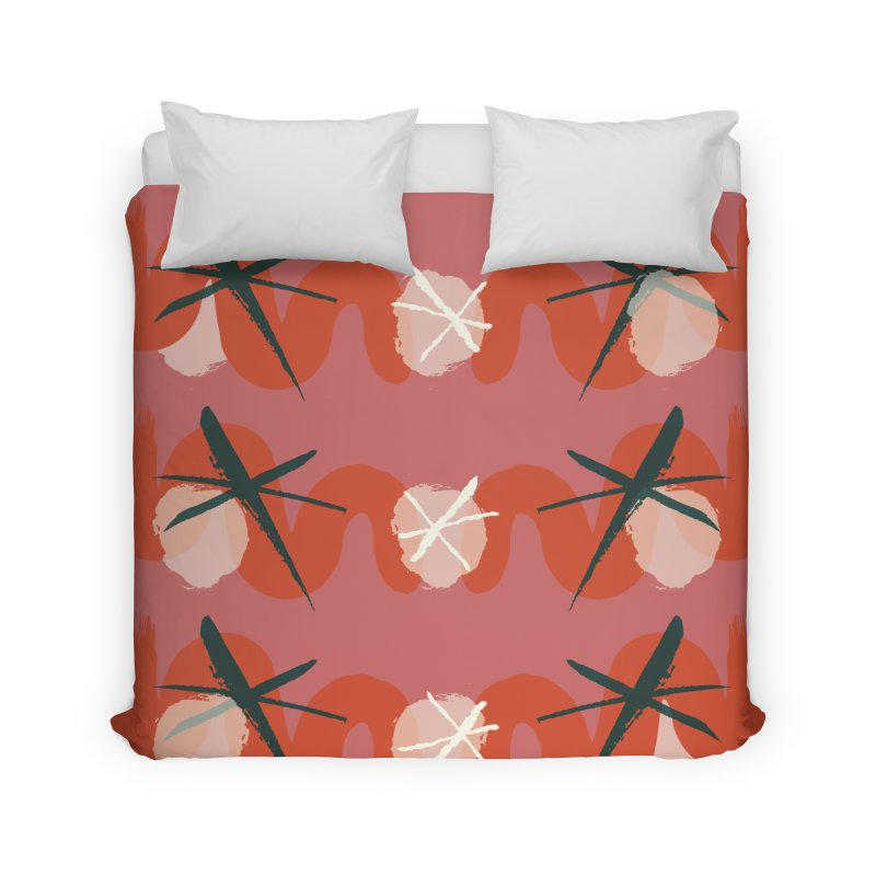 Pink Abstract Home Duvet by Eyeball Girl Creative