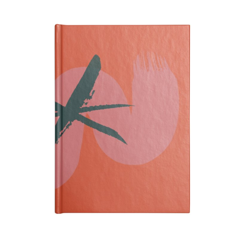 Pink Abstract Accessories Lined Journal Notebook by Eyeball Girl Creative