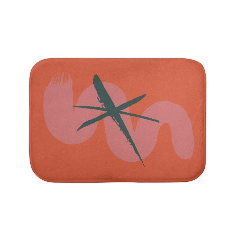 Pink Abstract Home Bath Mat by Eyeball Girl Creative
