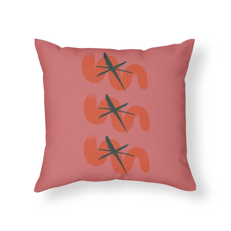 Pink Abstract Home Throw Pillow by Eyeball Girl Creative