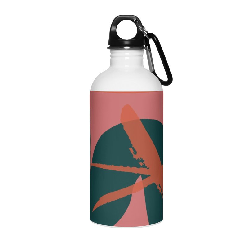 Pink Abstract Accessories Water Bottle by Eyeball Girl Creative