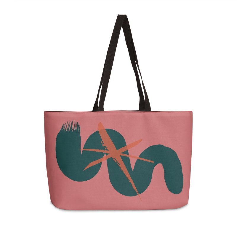 Pink Abstract Accessories Weekender Bag Bag by Eyeball Girl Creative
