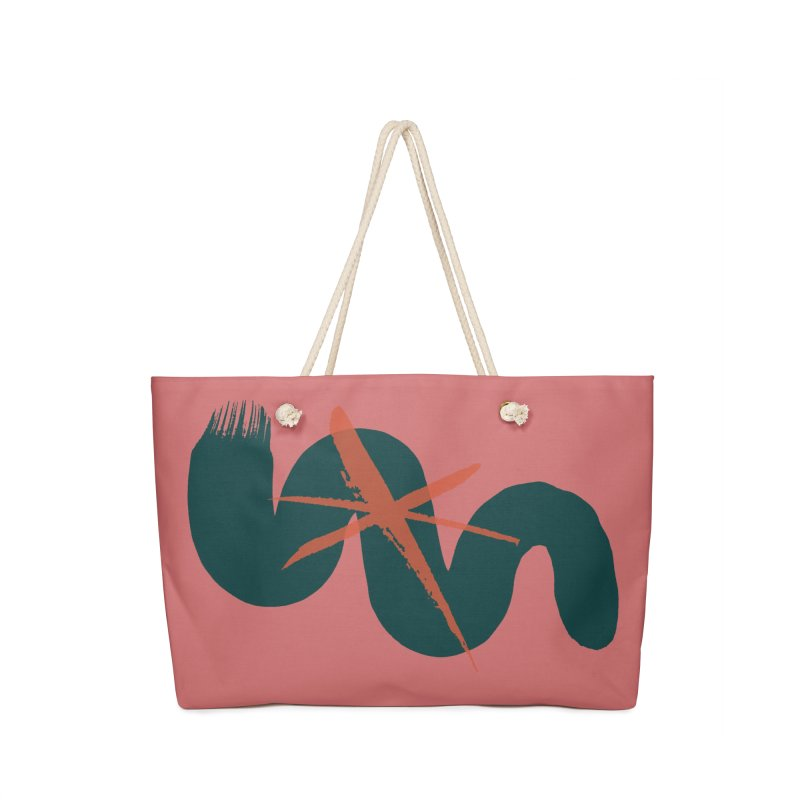 Pink Abstract Accessories Bag by Eyeball Girl Creative