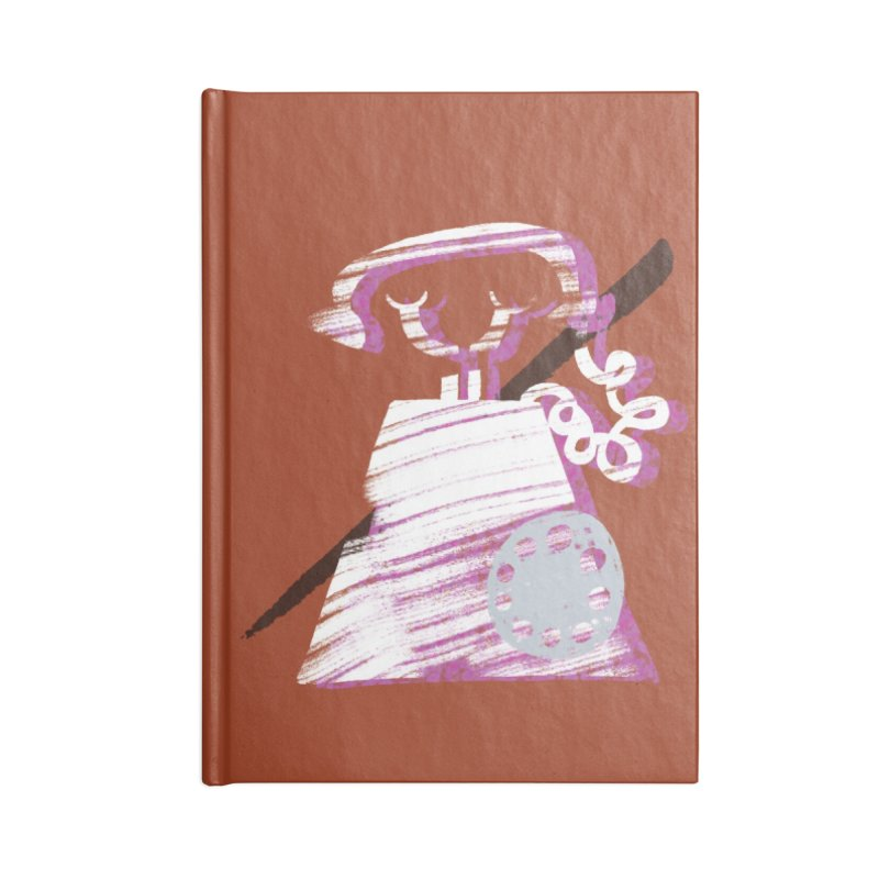 Call Me Accessories Lined Journal Notebook by Eyeball Girl Creative