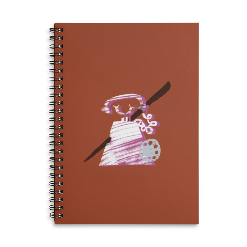 Call Me Accessories Lined Spiral Notebook by Eyeball Girl Creative