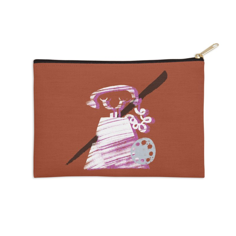 Call Me Accessories Zip Pouch by Eyeball Girl Creative