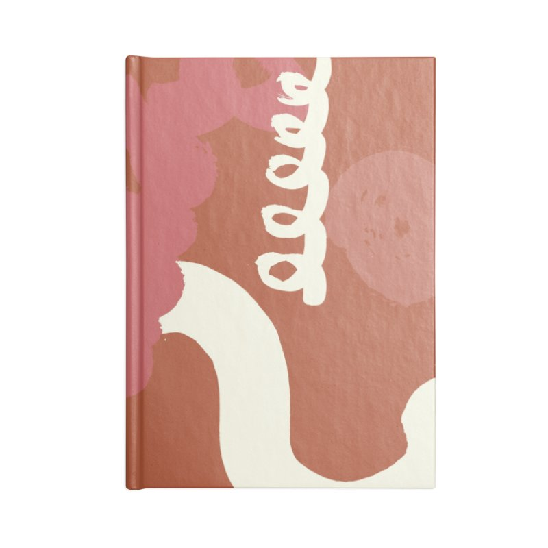 Orange Abstract Accessories Lined Journal Notebook by Eyeball Girl Creative