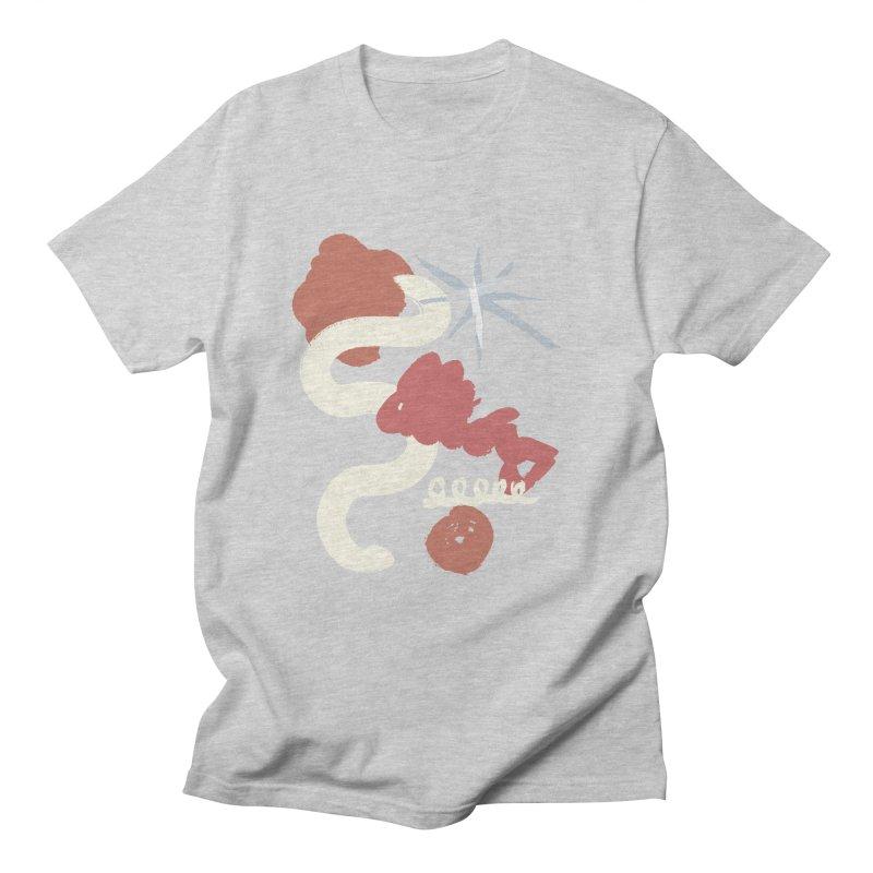 Orange Abstract Men's T-Shirt by Eyeball Girl Creative