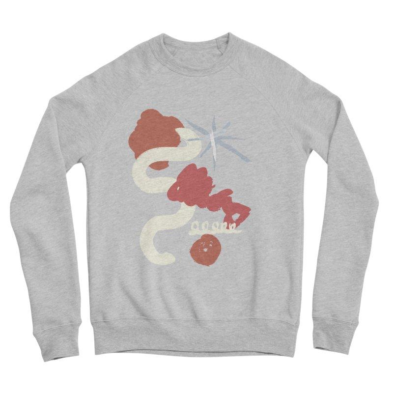 Orange Abstract Women's Sponge Fleece Sweatshirt by Eyeball Girl Creative