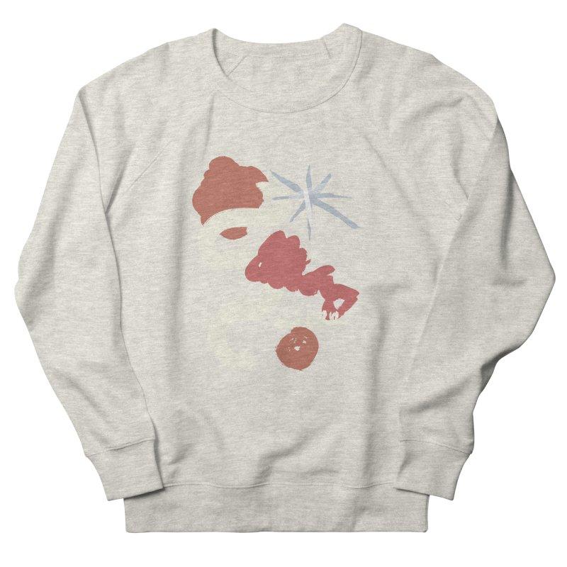 Orange Abstract Women's French Terry Sweatshirt by Eyeball Girl Creative