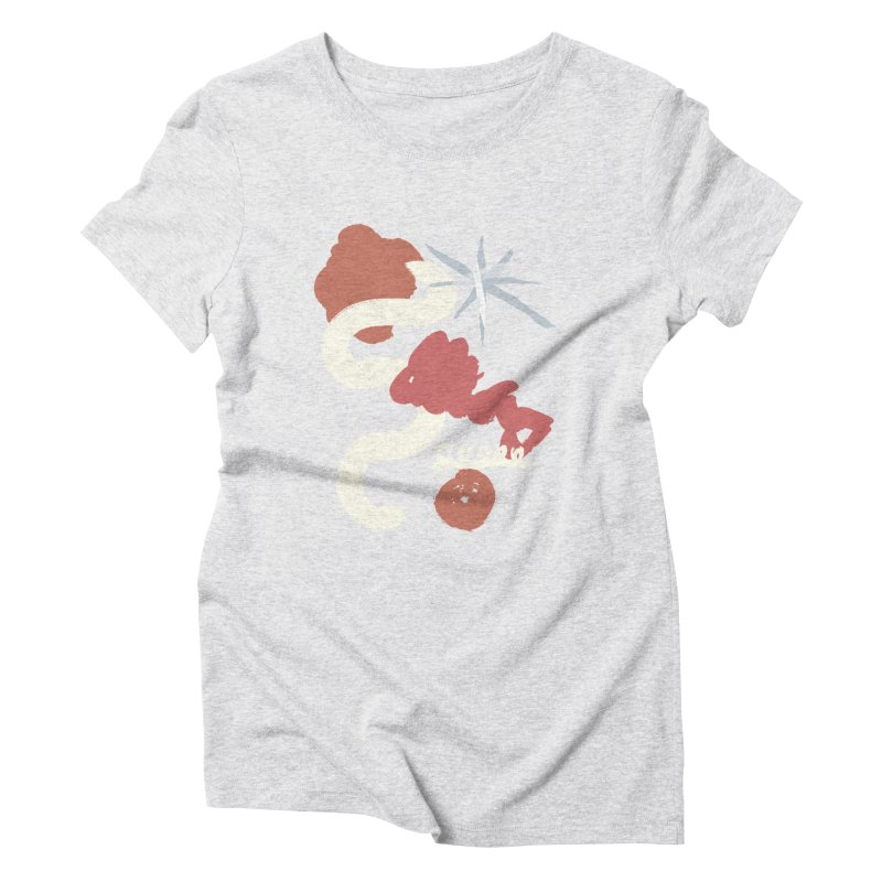 Orange Abstract Women's Triblend T-Shirt by Eyeball Girl Creative