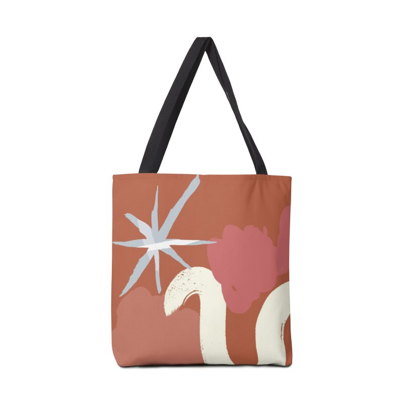 Orange Abstract Accessories Tote Bag Bag by Eyeball Girl Creative