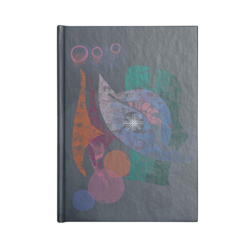 Avian Masquerade Accessories Blank Journal Notebook by Eyeball Girl Creative