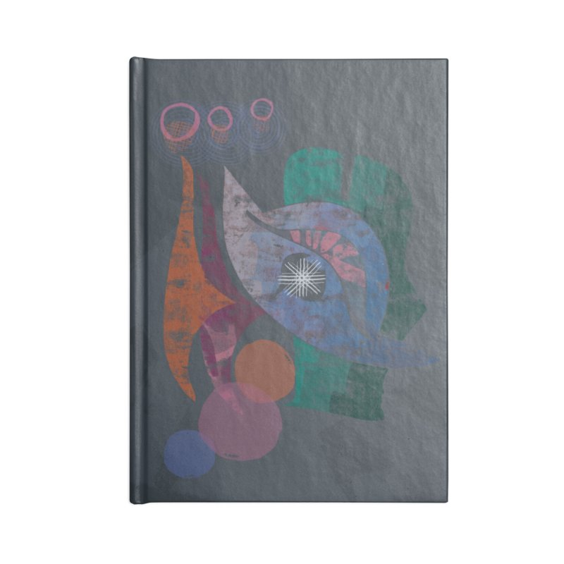 Avian Masquerade Accessories Lined Journal Notebook by Eyeball Girl Creative