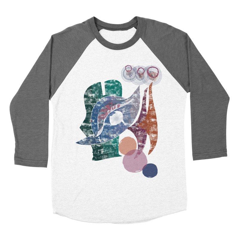 Avian Masquerade Women's Baseball Triblend Longsleeve T-Shirt by Eyeball Girl Creative