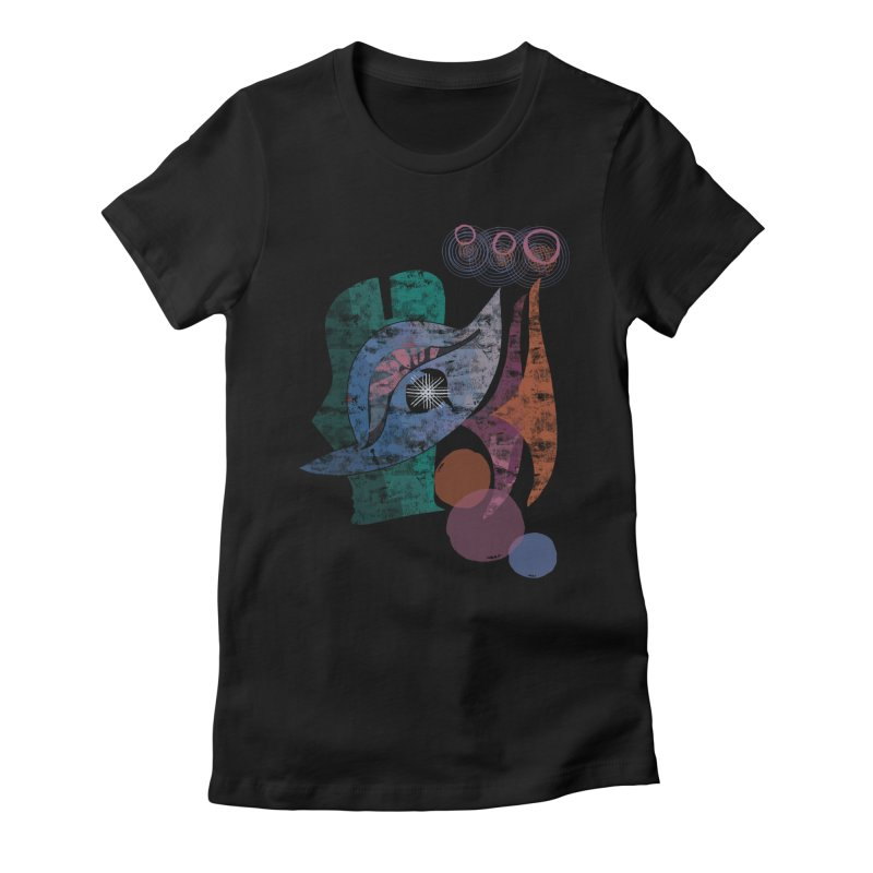 Avian Masquerade Women's Fitted T-Shirt by Eyeball Girl Creative