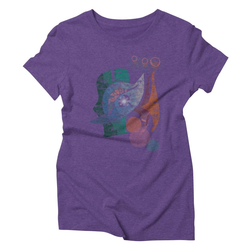 Avian Masquerade Women's Triblend T-Shirt by Eyeball Girl Creative