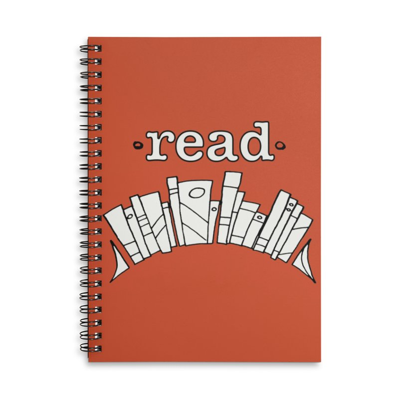 Knowledge is Power Accessories Lined Spiral Notebook by Eyeball Girl Creative