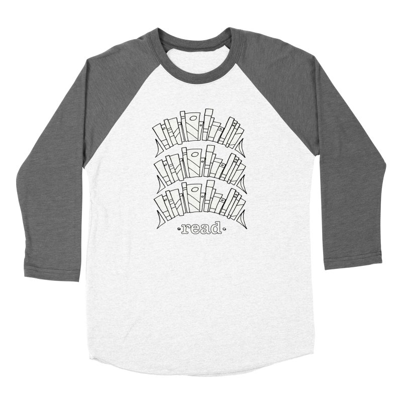 Knowledge is Power Men's Baseball Triblend Longsleeve T-Shirt by Eyeball Girl Creative