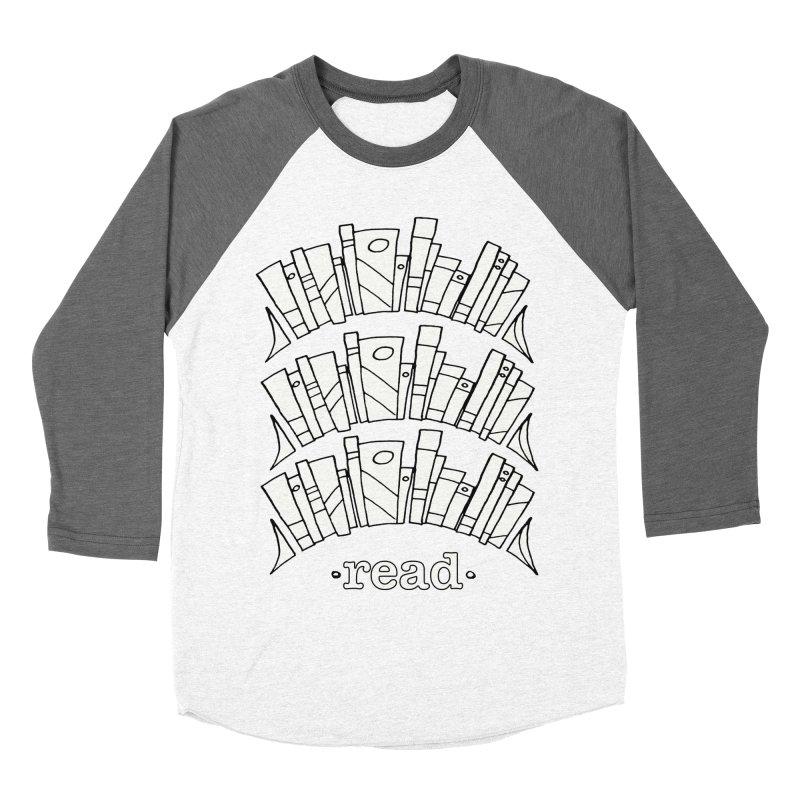 Knowledge is Power Men's Baseball Triblend Longsleeve T-Shirt by Eyeball Girl Creative
