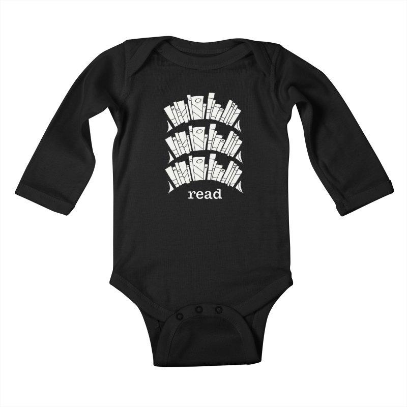 Knowledge is Power Kids Baby Longsleeve Bodysuit by Eyeball Girl Creative