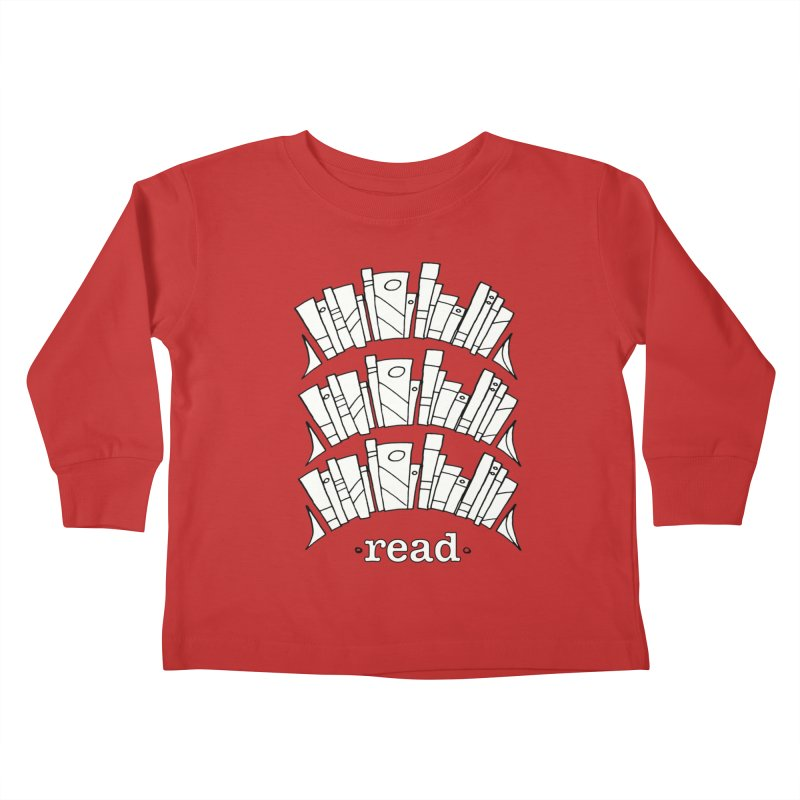 Knowledge is Power Kids Toddler Longsleeve T-Shirt by Eyeball Girl Creative
