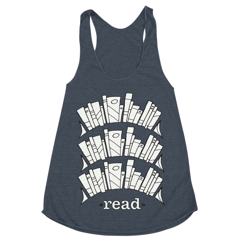 Knowledge is Power Women's Racerback Triblend Tank by Eyeball Girl Creative