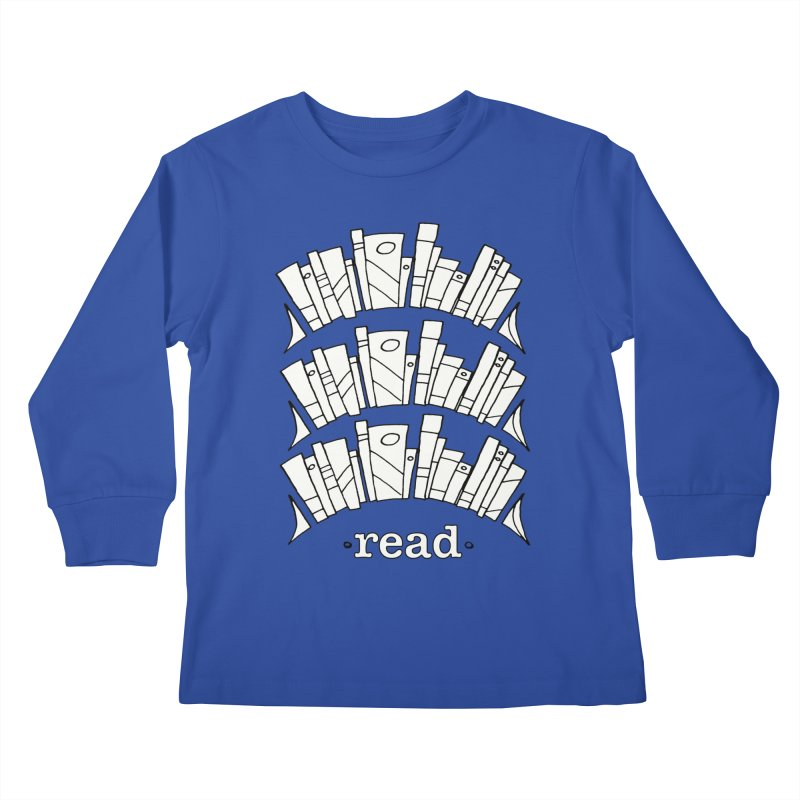 Knowledge is Power Kids Longsleeve T-Shirt by Eyeball Girl Creative