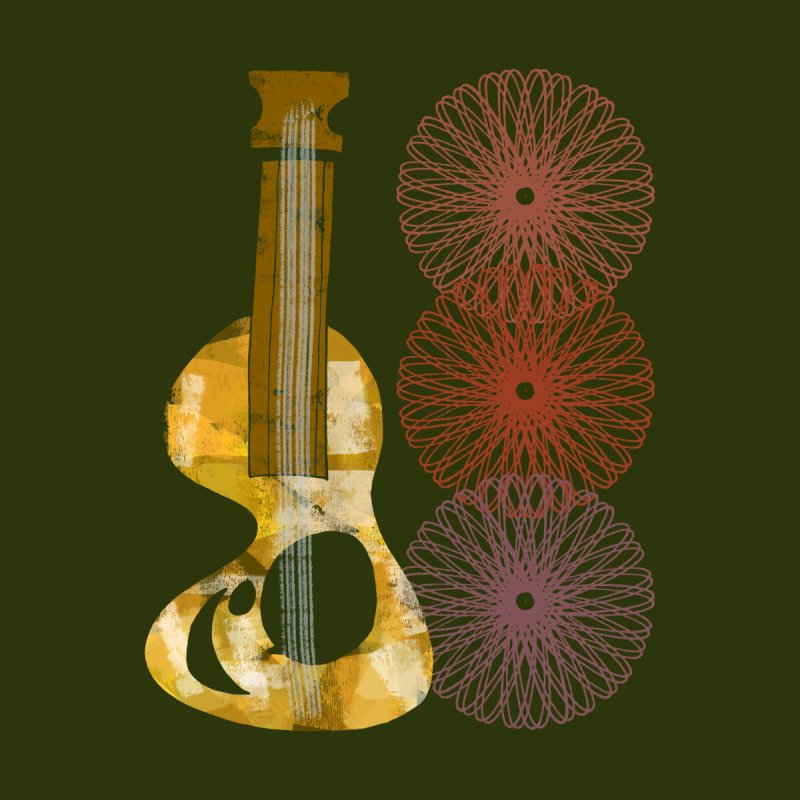 Guitar and a Spirograph Home Blanket by Eyeball Girl Creative