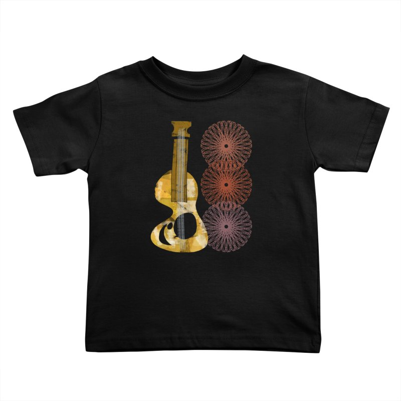 Guitar and a Spirograph Kids Toddler T-Shirt by Eyeball Girl Creative