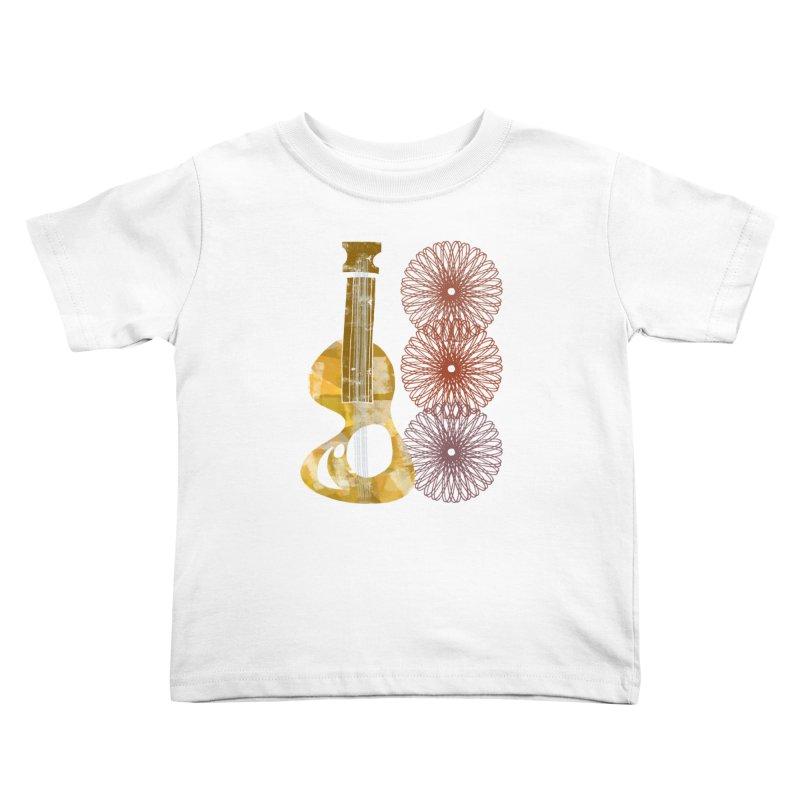 Guitar and a Spirograph Kids Toddler T-Shirt by Eyeball Girl Creative