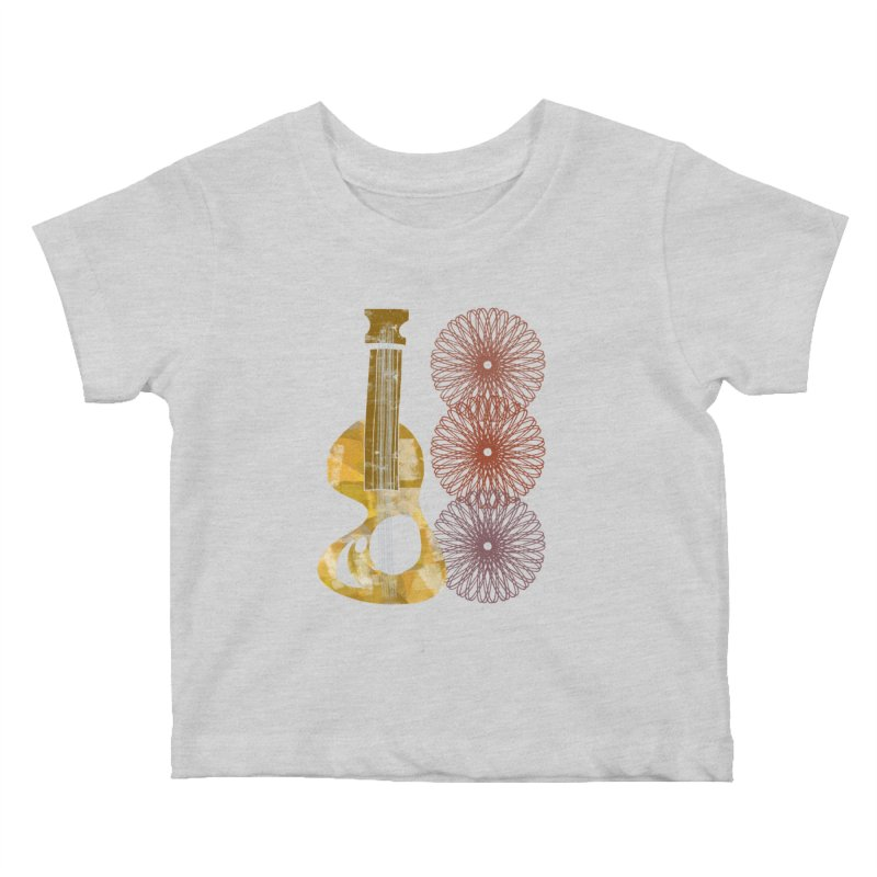Guitar and a Spirograph Kids Baby T-Shirt by Eyeball Girl Creative